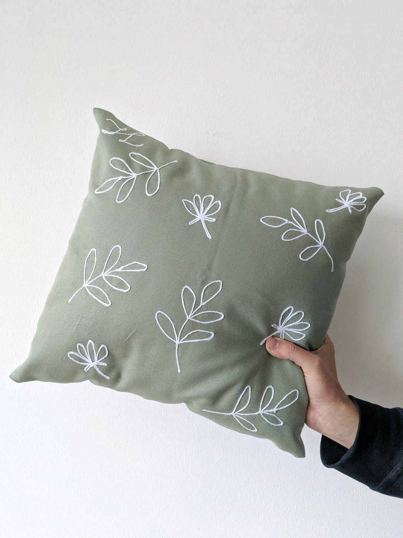 """Budding"" Pillow Cover"