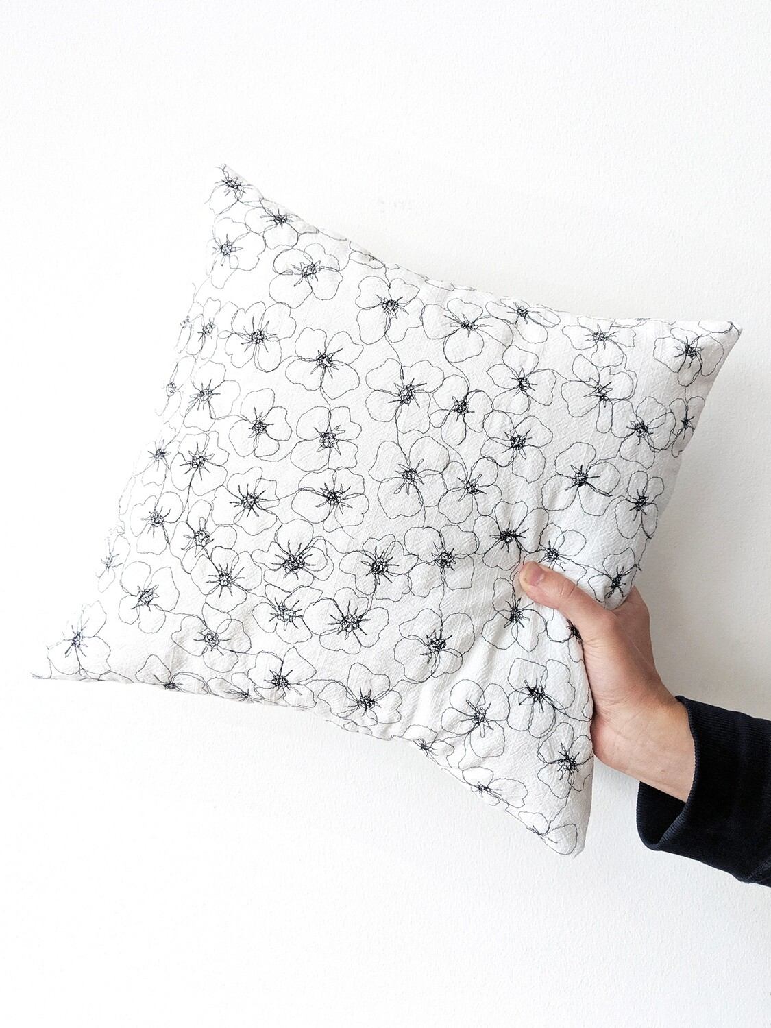 """""""Flower Bed"""" Pillow Cover"""