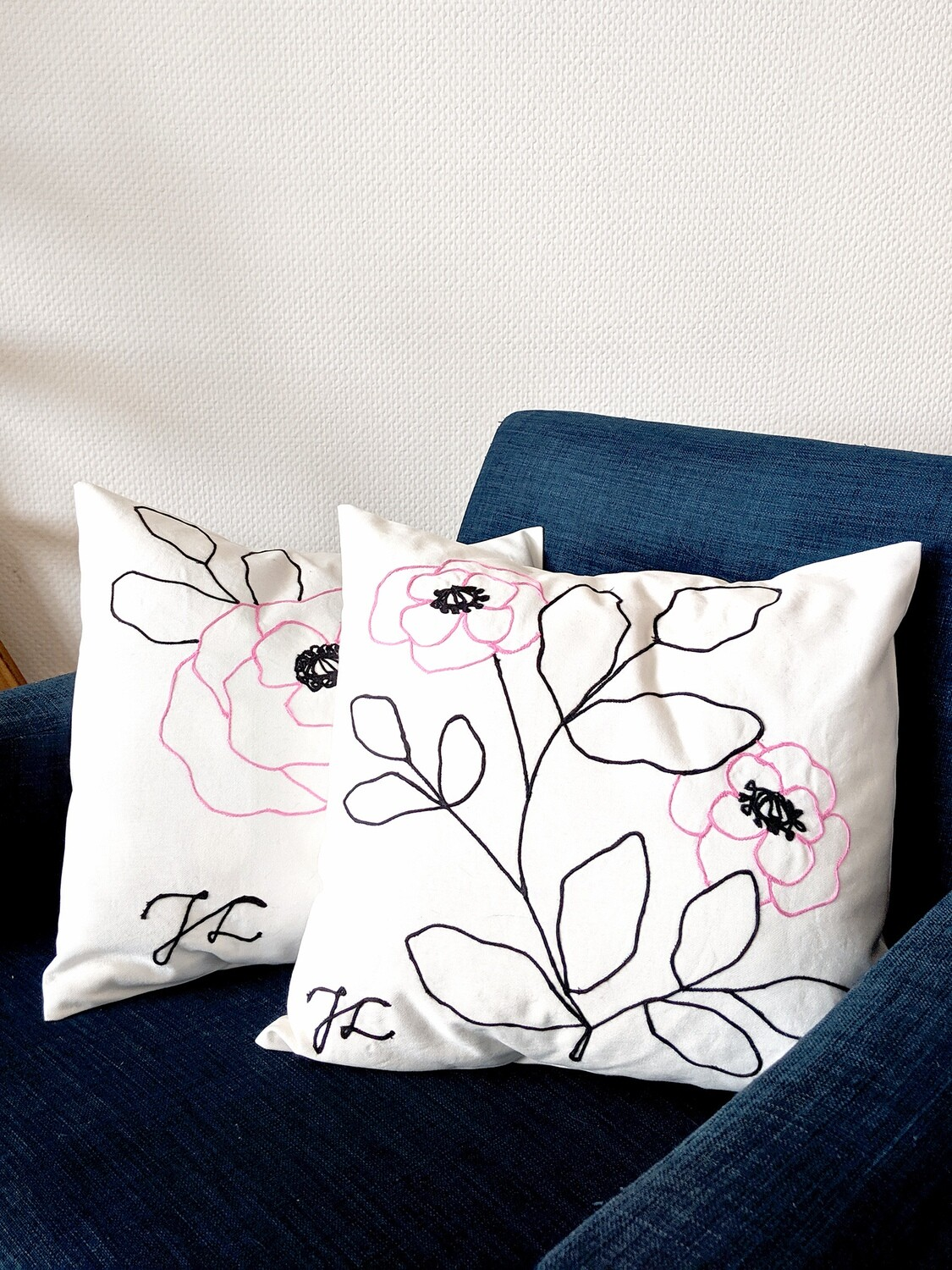 Pair of Pink Pillow Covers