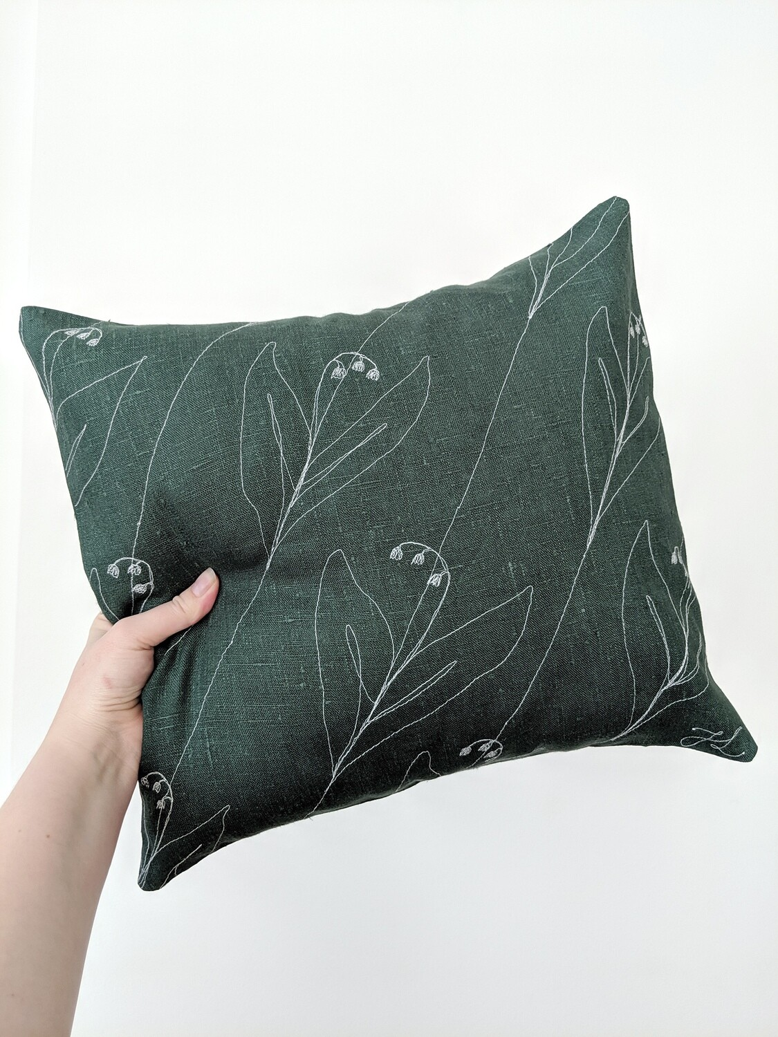 """Lily of the Valley"" Pillow Cover"