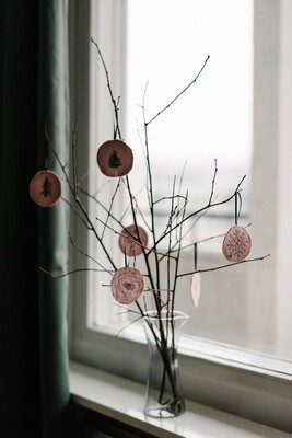 8 Pink Ornaments