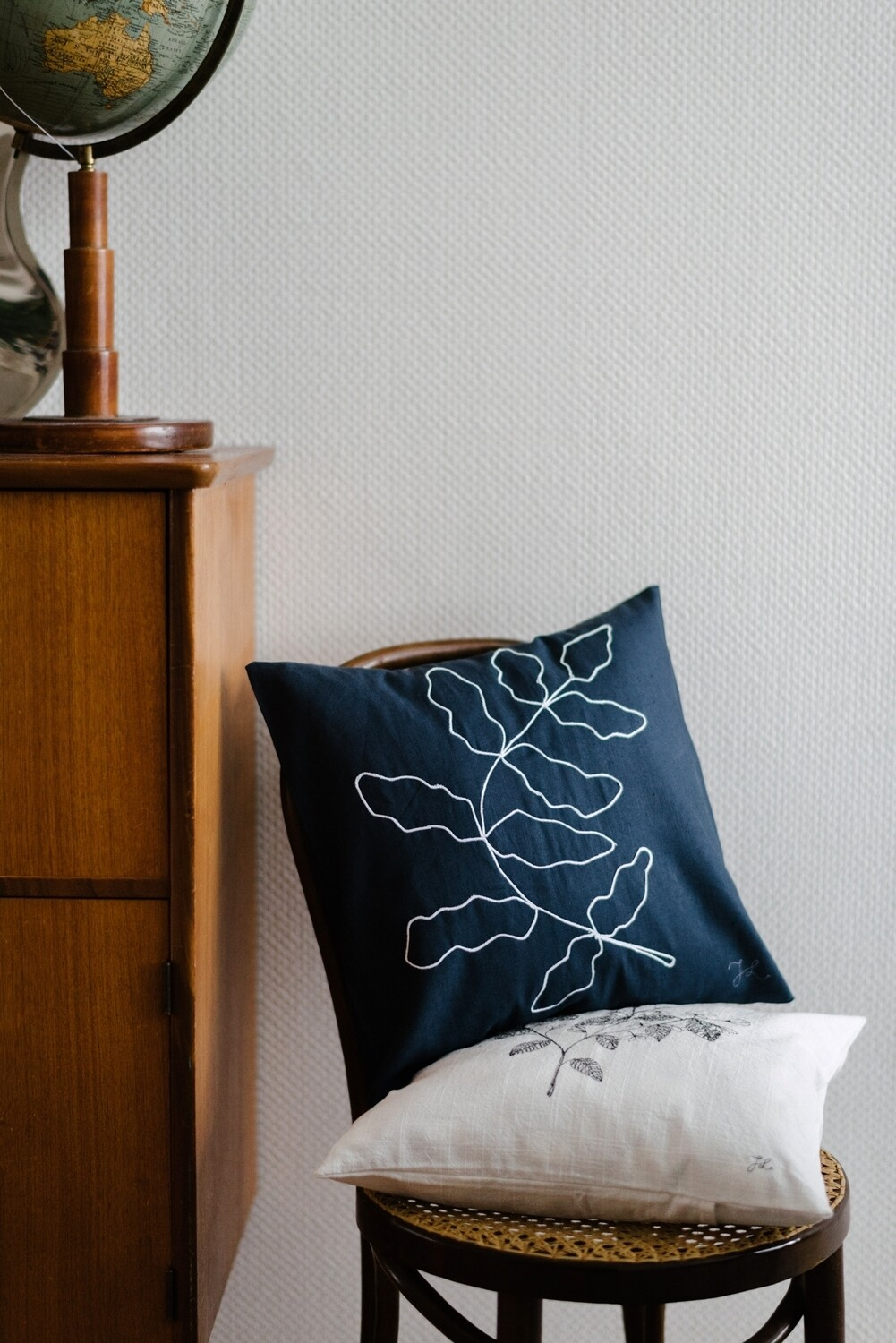 """Fern"" Blue Pillow Cover"