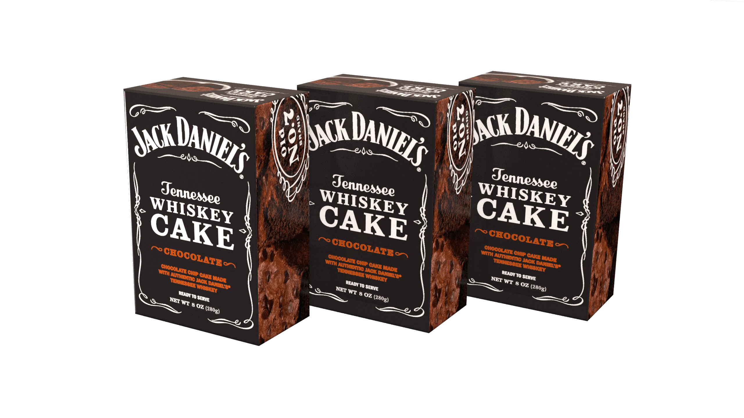 3-Pack of Jack Daniel's Tennessee Whiskey Cake - Chocolate JD308CHO