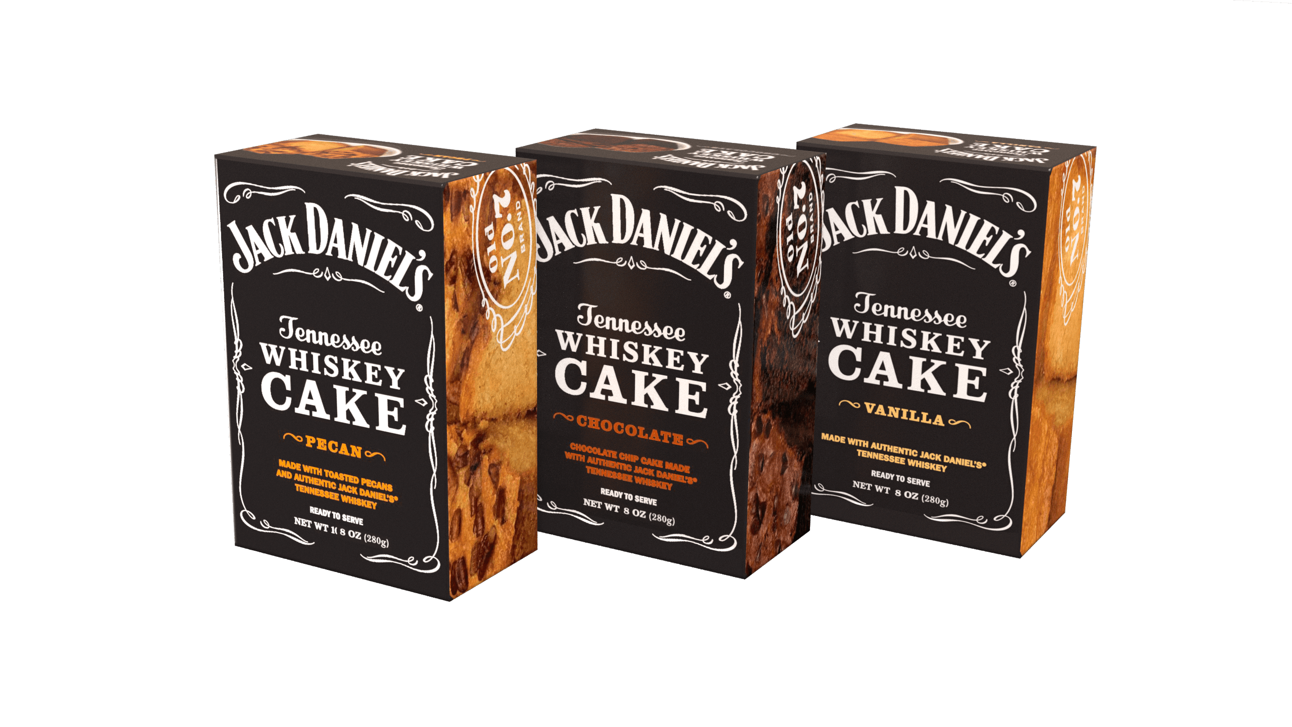 3-Pack of Jack Daniel's Tennessee Whiskey Cake - Variety Pack JD308VAR