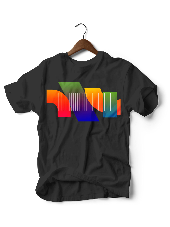 Geometric Black T-shirt