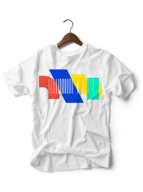 Geometric White T-shirt