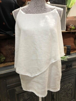 Linen Layered Tank White