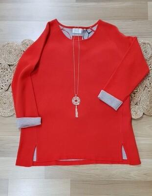Sweater Orange/Ash