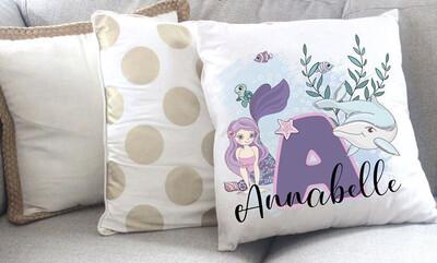 Personalised Mermaid Throw Pillow