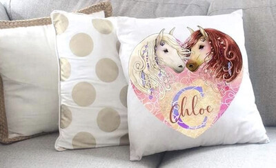 Personalised Horse Throw Pillow