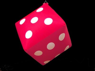 Hanging Inflatable Dice 2.5ft/75cm x 2.5ft/75cm
