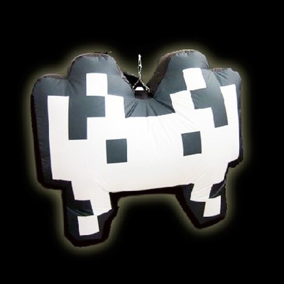Hanging Inflatable Space Invader 3.3ft/100cm x 2.5ft/75cm