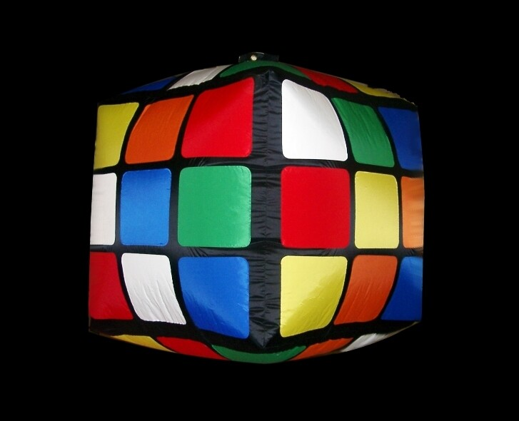 Hanging Inflatable Rubiks Cube 2.5ft/75cm x 2.5ft/75cm