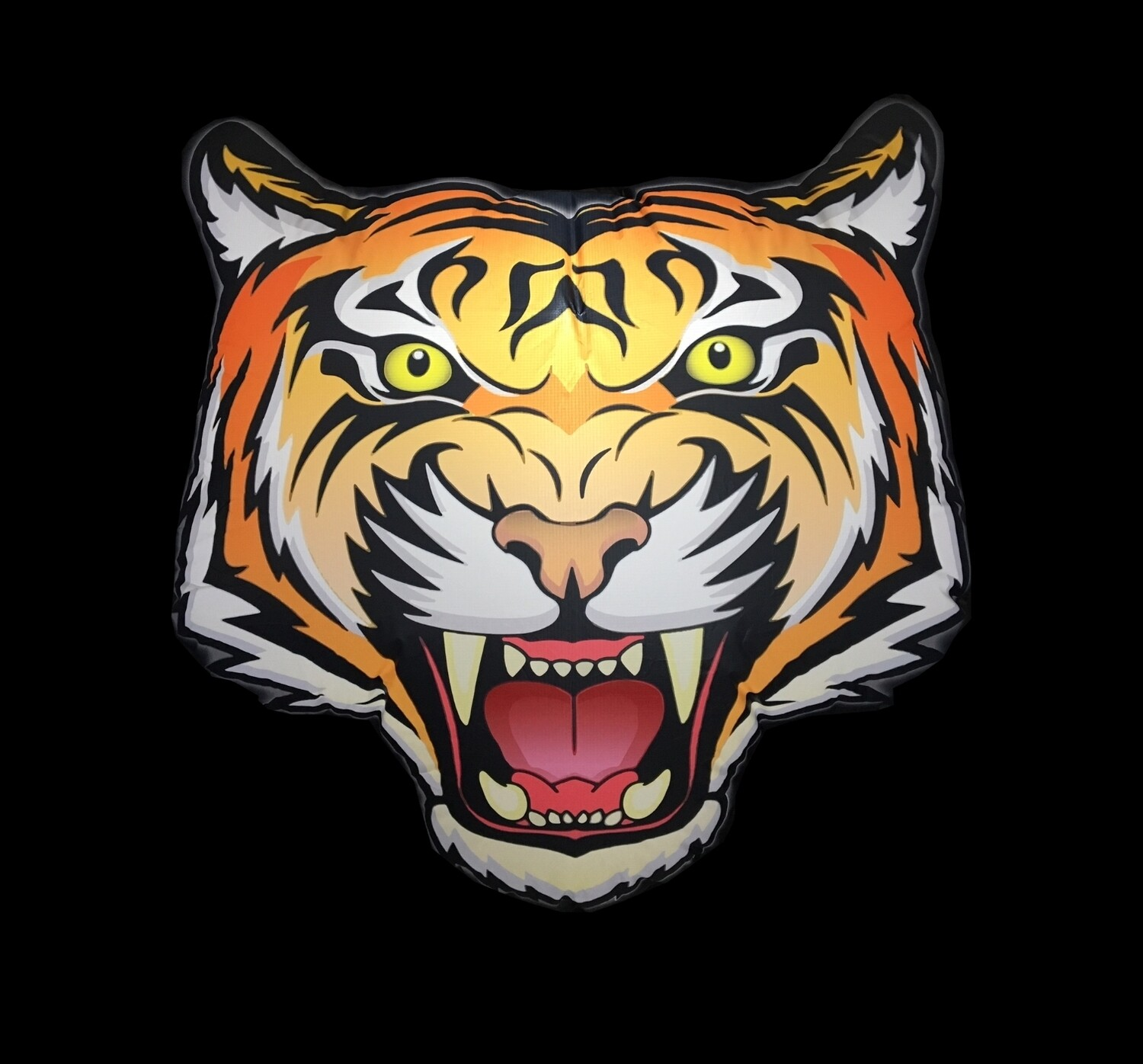 Hanging Inflatable Tiger Head 4ft/122cm x 4ft/122cm