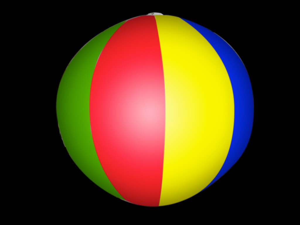 Hanging Inflatable Beach Ball Stripy Spheres 7ft/214cm diameter