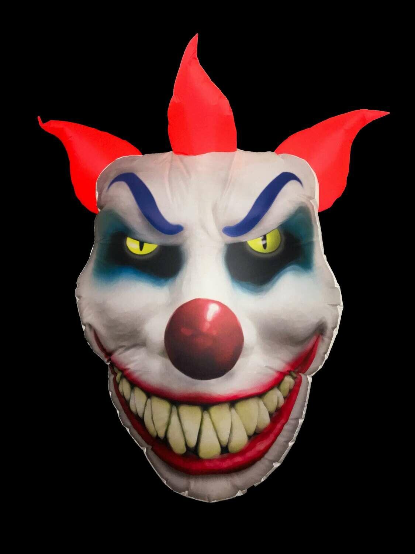 Hanging Inflatable Clown Face 4.7ft/144cm x 6.2ft/190cm