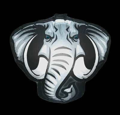 Hanging Inflatable Elephant Head 2.8ft/85cm x 2.5ft/75cm