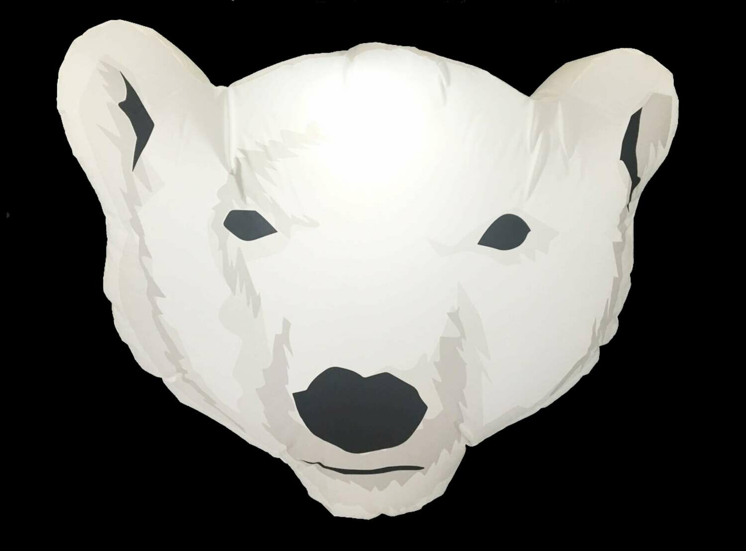 Hanging Inflatable Polar Bear Head 3.8ft/116cm x 3ft/91cm
