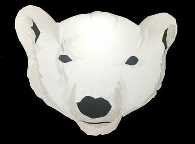 Hanging Inflatable Polar Bear Head 3.1ft/95cm x 2.5ft/75cm