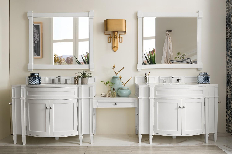 320 cm Badmöbel Landhaus Doppelwaschtisch Weiß
