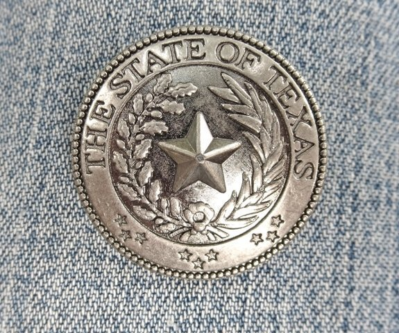 "Concho ~ Texas Seal 1 1/4"" ~ RTX3015"