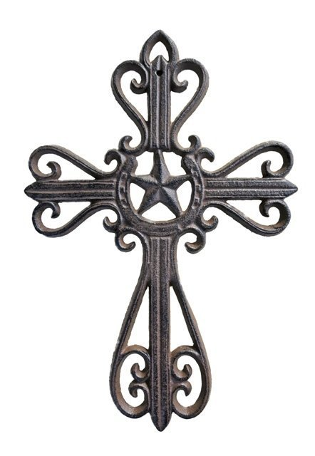Cross with Star & Horseshoe ~ D58-088