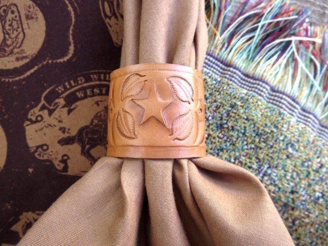 Leather Napkin Rings ~ LNRL15 ~ Set of 4