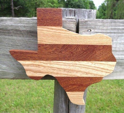 Wooden Texas Plaque ~ JO15004