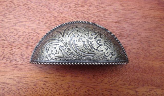 Bin Pull ~ Antique Brass Paisley ~ PDP51