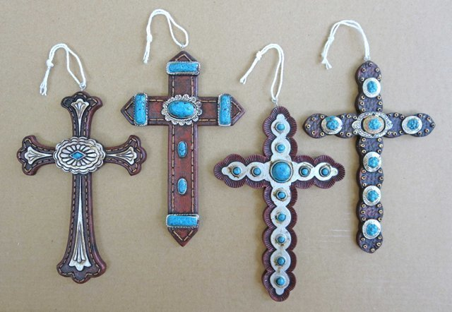 Cross Ornaments ~ Set of 4 ~ RB71285
