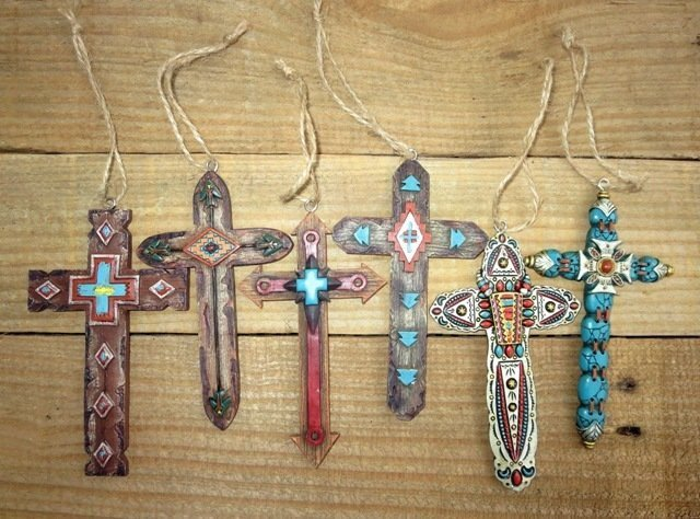 Southwest Cross Ornaments ~ Set of Six