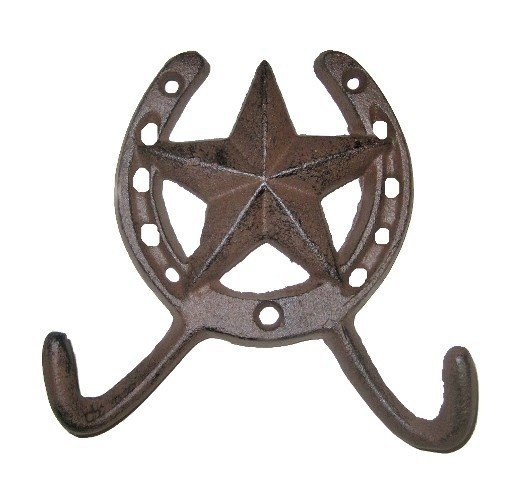 Horseshoe with Star Hook D54-240
