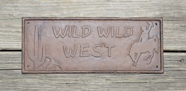Wild Wild West Plaque ~ D73-046
