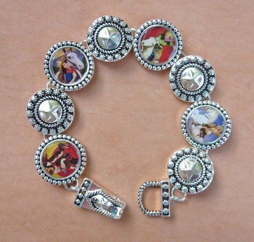 Cowgirl Images & Star Bracelet ~ W033938