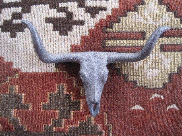 Longhorn Skull Drawer Pull T189B