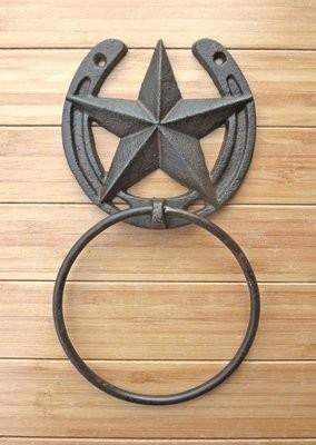 Horseshoe Star Towel Ring ~ DR082