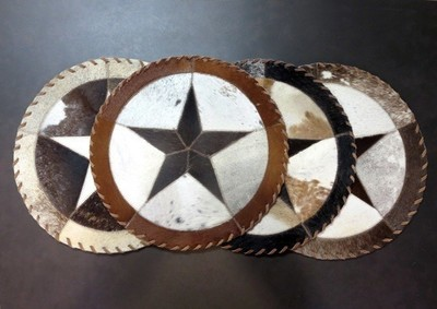 Cowhide Star Placemat ~ Set of 2 ~ CHSP1614