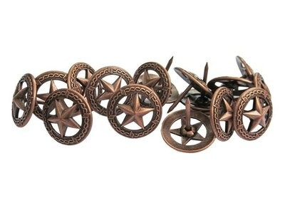 Star Circled with Barbed Wire Tack P907-Copper