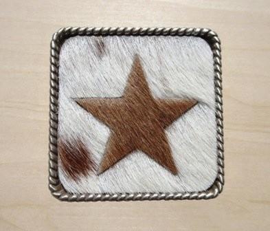 Concho Cowhide Star 2 1/4