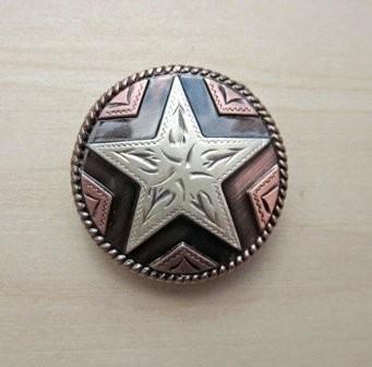 Concho 2 Star Copper 1 1/8