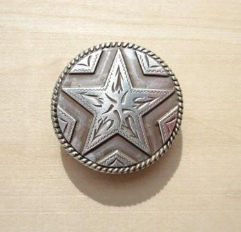 Concho 2 Star Silver 1 1/8