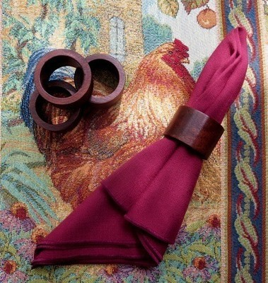 Mahogany Napkin Rings ~ Set of 4