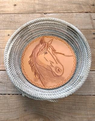 Horse Lariat Basket ~ HLB 11535