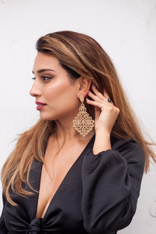 Zeta Gold Earrings