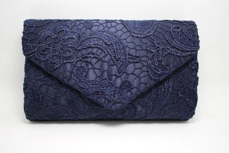 LACE CLUTCH NAVY