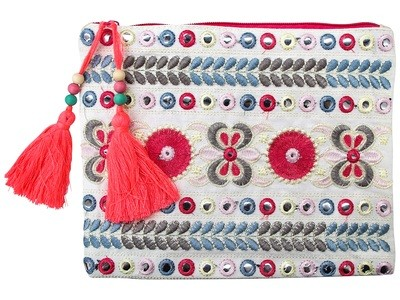 Embroided Purse Pastel