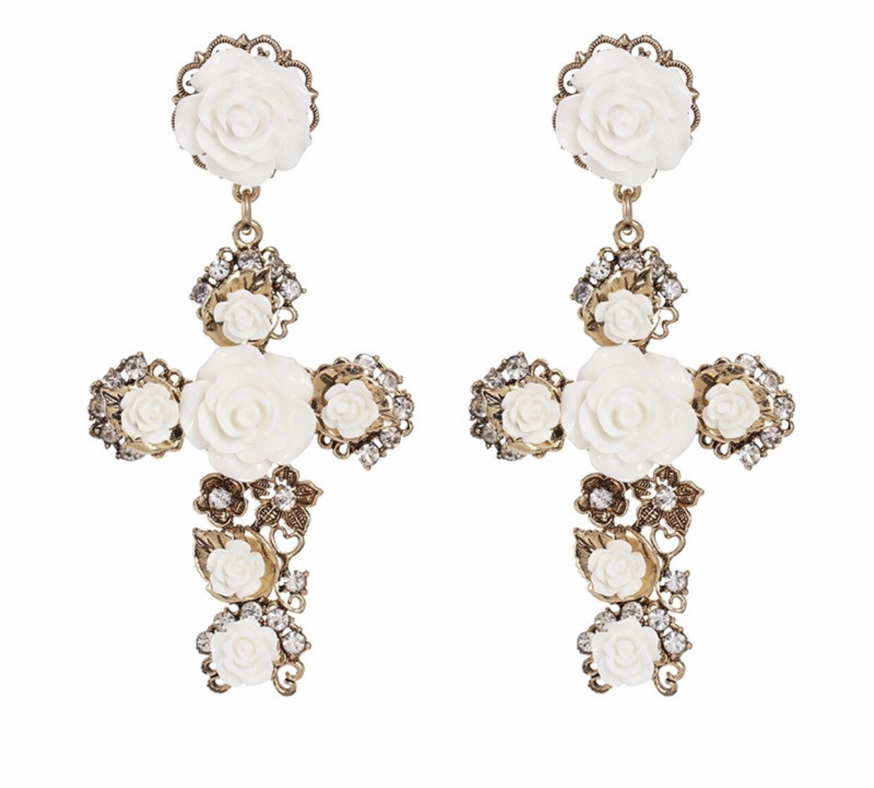 BAROQUE CROSS Earrings