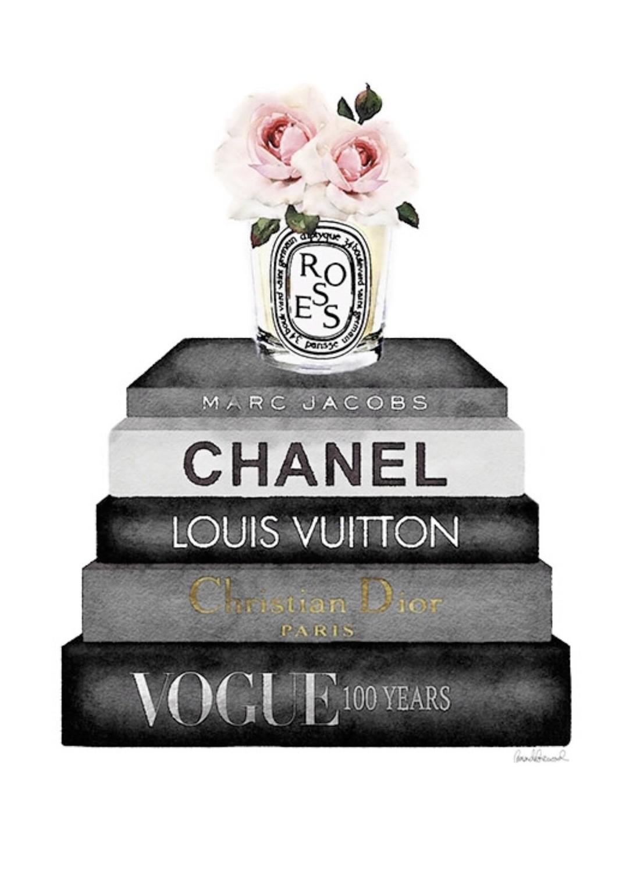 Chanel book stack Black Frame