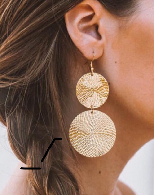 GOLD DUO ROUND DROP EARRINGS ✨