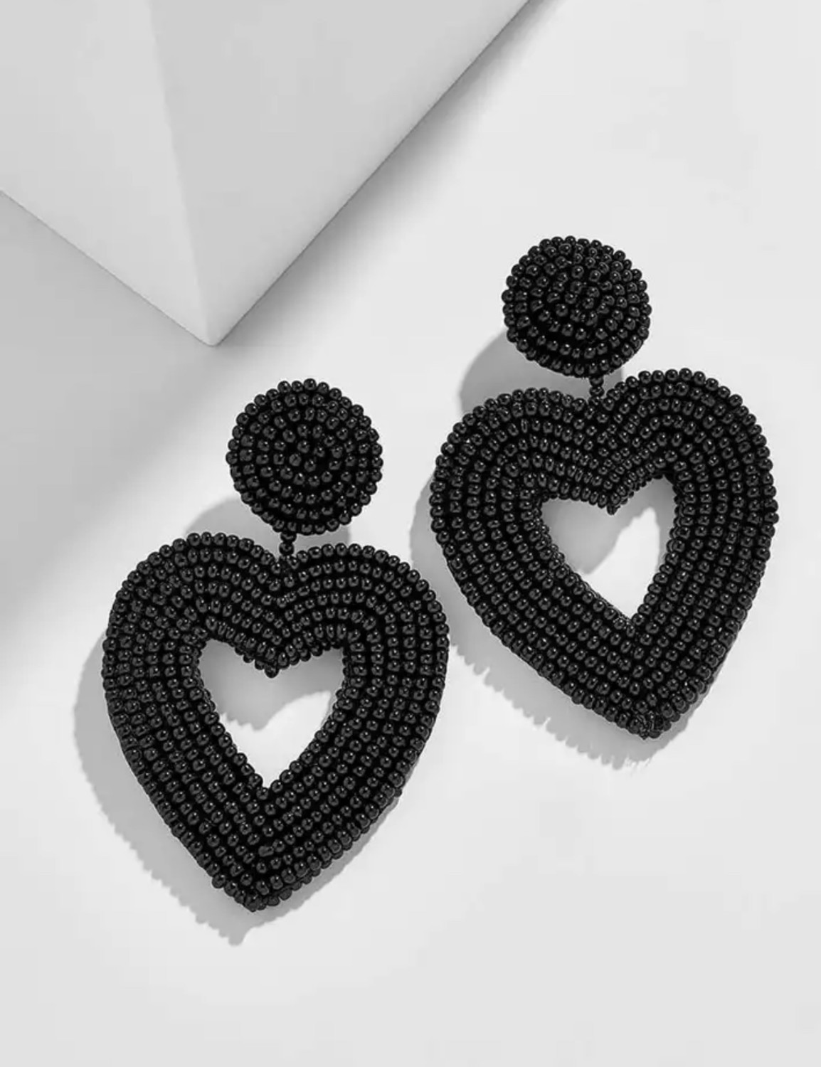 Heart Bead Earrings